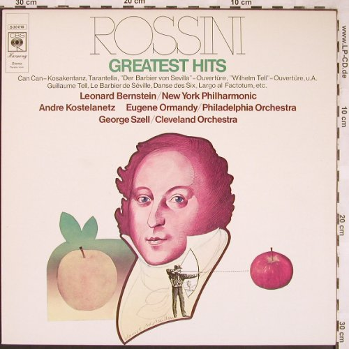 Rossini,Gioacchino: Greatest Hits, CBS(S 30 016), NL, 1971 - LP - L6403 - 3,00 Euro
