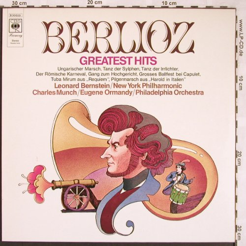 Berlioz,Hector: Greatest Hits, CBS(S 30 023), NL, 1972 - LP - L6407 - 3,00 Euro