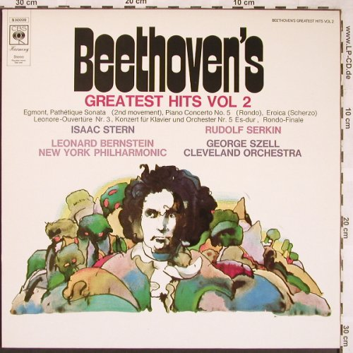 Beethoven,Ludwig van: Greatest Hits Vol.2, CBS(S 30 039), NL, 1974 - LP - L6413 - 7,50 Euro