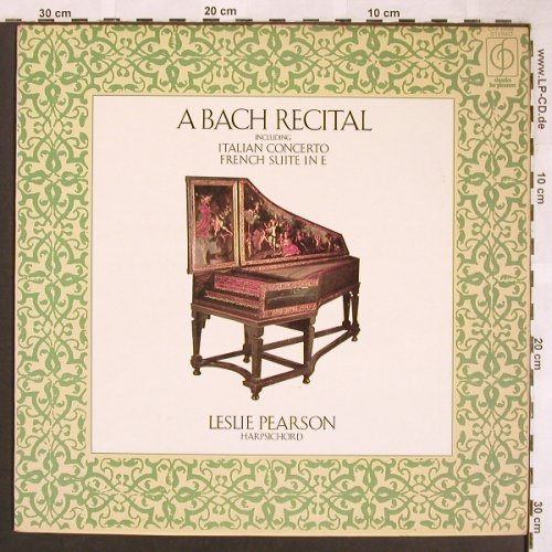 Bach,Johann Sebastian: Italian Concerto/French S.6,Recital, Classic for Pleasure/EMI(CFP 40049), UK,, 1973 - LP - L6479 - 6,00 Euro