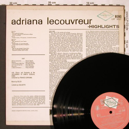 Cilea,Francesco: Adriana Lecouvreur-Highlights, Decca,Sample-Stol,stoc(LXT 6017), UK mono,  - LP - L6506 - 6,00 Euro