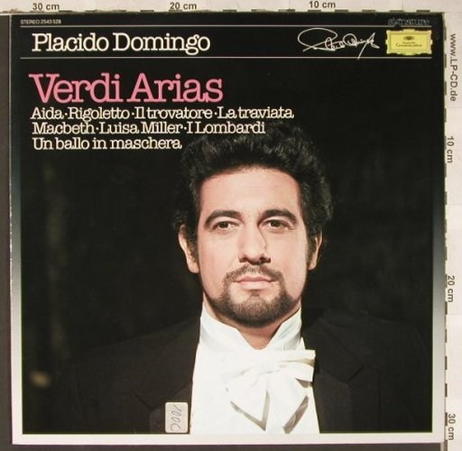 Domingo,Placido: Verdi Arias, D.Gr. Signature(2543 528), D, 1983 - LP - L6551 - 5,00 Euro