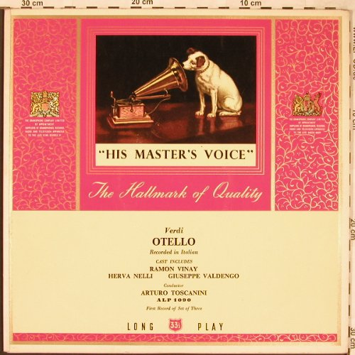 Verdi,Giuseppe: Othello, Foc, Rec.1-Set of 3, His Masters Voice(ALP 1090), UK,  - LP - L6576 - 6,00 Euro