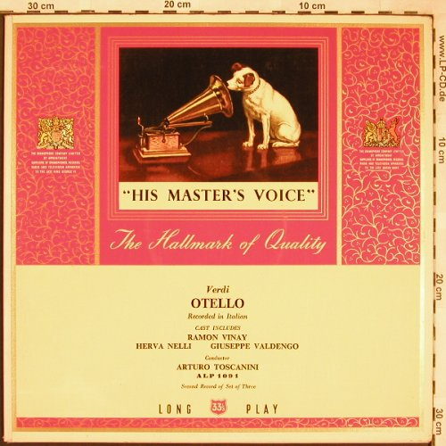 Verdi,Giuseppe: Othello, Rec. 2 Of 3, Foc, His Masters Voice(ALP 1091), UK,  - LP - L6646 - 6,00 Euro