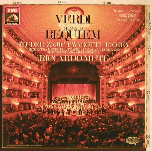 Verdi,Giuseppe: Messa Da Requiem,Box,CD-Bookl., EMI, EX 165(7 49390 1), D, 1987 - 2LP - L6650 - 7,50 Euro
