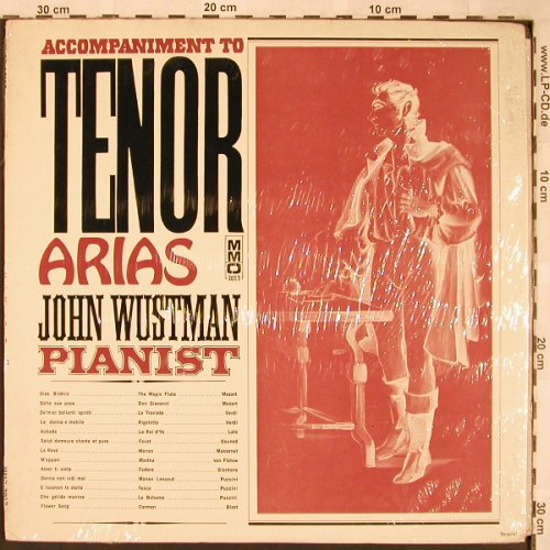 Wustman,John: Accompaniment to Tenor Arias, Music Minus One(MMO 7017), US, FS-New,  - LP - L6728 - 9,00 Euro