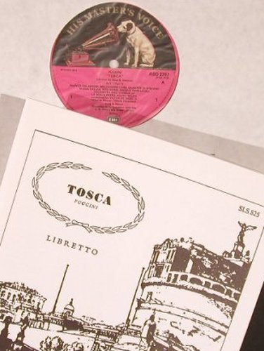 Puccini,Giacomo: Tosca, ital. (Box vg+), His Masters Voice(SLS 825), UK,  - 2LP - L6743 - 7,50 Euro