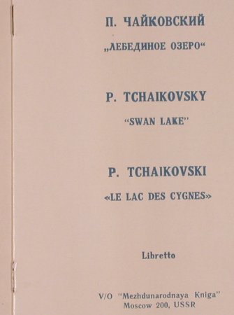 Tschaikowsky,Peter: The Swan Lake, Box, Melodia(D 04984-89), UDSSR,  - 3LP - L6754 - 15,00 Euro