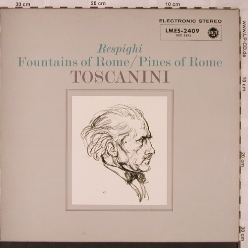 Respighi,Ottorino: Fountains of Rome/Pines of Rome, RCA(LMES-2409), D,  - LP - L6778 - 9,00 Euro