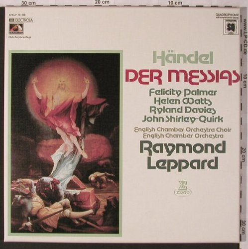 Händel,Georg Friedrich: Der Messias, Box, EMI/Erato(SFKLP 78 436), D, 1975 - 3LPQ - L6845 - 12,50 Euro