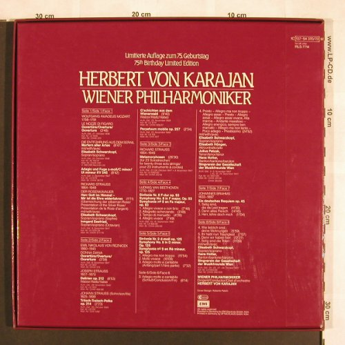 Karajan,Herbert & Wiener Philh.: Same, Box, Lim.Ed. 75th birthday, EMI(137-54 370/73), D,  - 4LP - L7040 - 14,00 Euro