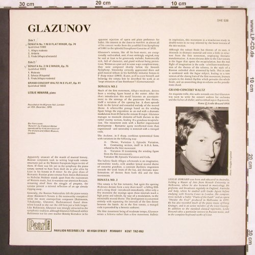 Glazunov,Alexander: The Piano Sonatas,op.74,75,41, woc, Pearl(SHE 538), UK,  - LP - L7284 - 6,00 Euro
