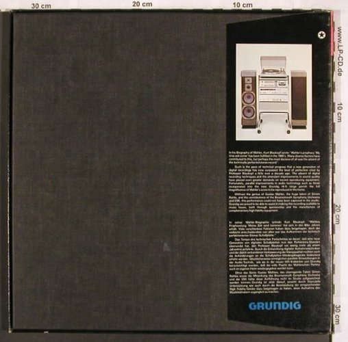 Mahler,Gustav: Sinfonie Nr. 10, Box, Fontana(SLS 5206), UK, co, 1980 - 2LP - L7311 - 12,50 Euro