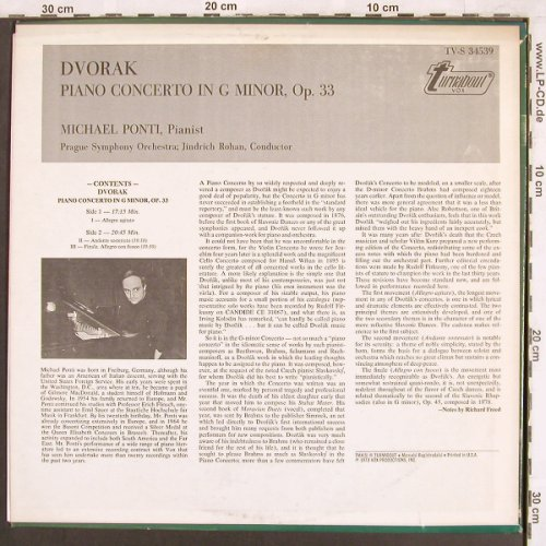 Dvorak,Antonin: Piano Concerto, Turnabout Vox(TV-S 34539), US, 1973 - LP - L7384 - 6,00 Euro