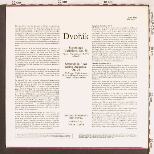 Dvorak,Antonin: Symphonic Variations, Philips(SAL 3706/839706), UK, 1968 - LP - L7391 - 7,50 Euro