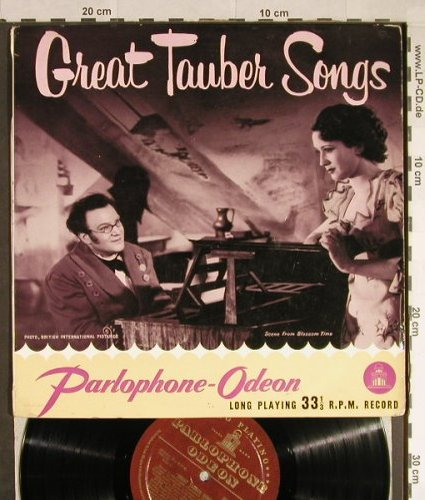 Tauber,Richard: Great Tauber Songs, vg+/m-, Parlophone/Odeon(PMB 1006), UK,  - 10inch - L740 - 4,00 Euro