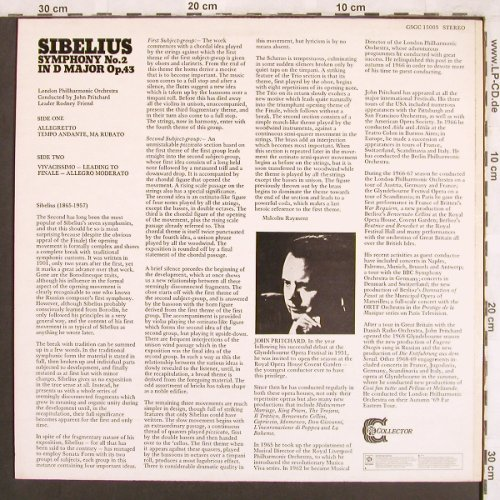 Sibelius,Jean: Symphony No.2 in d Major op.43, Collector(GSGC 15003), UK, Ri, 1975 - LP - L7435 - 5,00 Euro