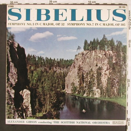 Sibelius,Jean: Symphony No.3 in C Major,op.52/No.7, Joker/Saga(SM 1155), I, 1973 - LP - L7437 - 6,00 Euro