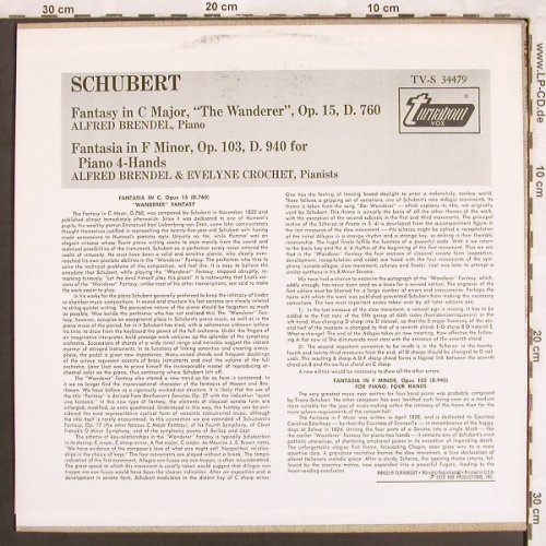 Schubert,Franz: Fantasy in C Major,op.15 D.760, Turnabout Vox(TV-S 34479), US, 1973 - LP - L7443 - 7,50 Euro