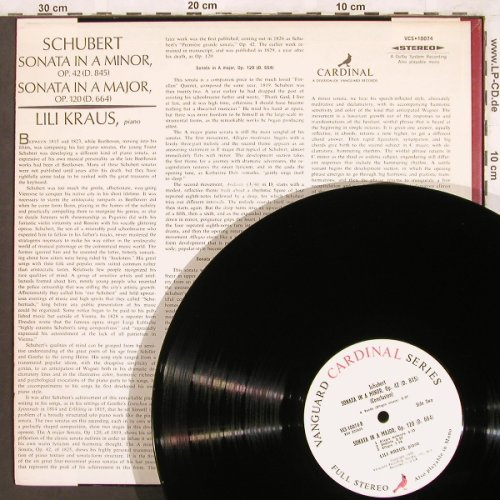 Schubert,Franz: Sonata in A Minor, op.42,D.845, 664, Cardinal(VCS 10074), US,  - LP - L7474 - 9,00 Euro