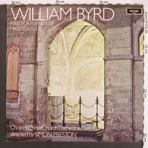 Byrd,William: Mass for five voices, argo(ZRG 858), UK, 1977 - LP - L7491 - 7,50 Euro