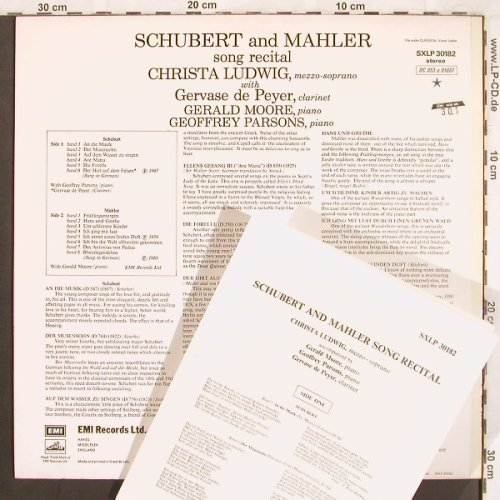 Ludwig,Christa: Schubert & Mahler-Song Recital, EMI(SXLP 30182), UK, Ri,  - LP - L7565 - 7,50 Euro