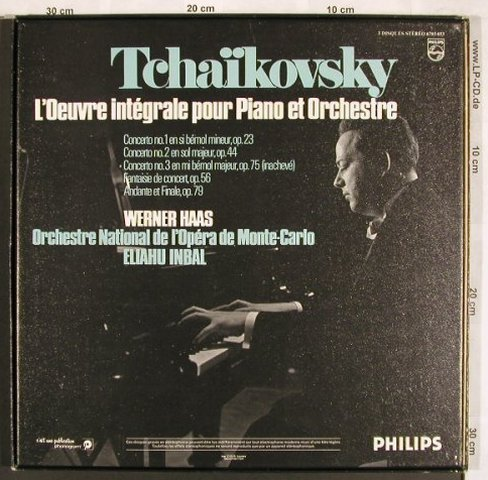 Tschaikowsky,Peter: L'Oeuvre Intrgrale Pour Piano et Or, Philips(6703 033), F, Box, 1972 - 3LP - L7582 - 15,00 Euro