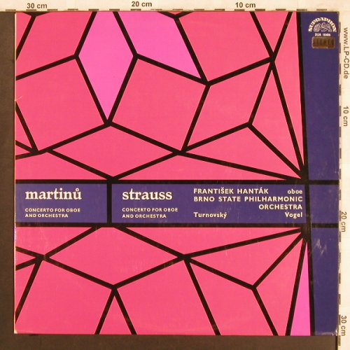 Martinu,Bohuslav / Richard Strauss: Concerto for Oboe and Orchestra, Supraphon(SUA ST 50486), CZ,vg+/m-,  - LP - L7586 - 6,00 Euro