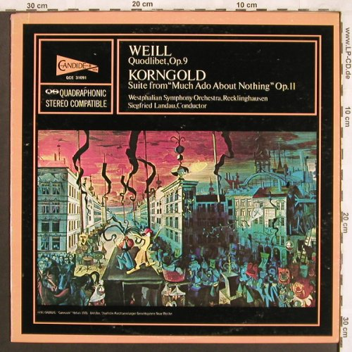 Weill,Kurt / W.Korngold: Quodlibet.Op.9/Suite from'Much Ado, Candide(QCE 31091), US, 1976 - LPQ. - L7593 - 9,00 Euro