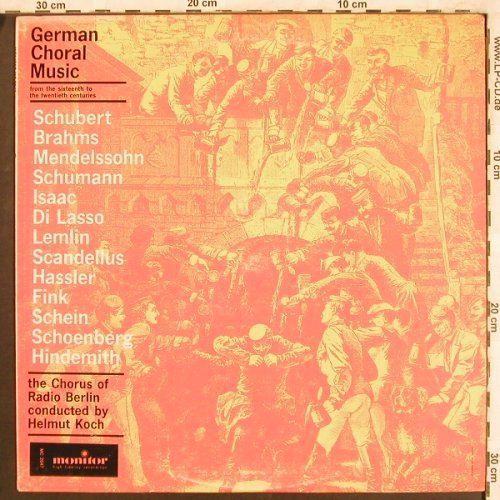 V.A.German Choral Music: From the 16th - 20th Centuries, Monitor(MC 2047), US,  - LP - L7610 - 7,50 Euro