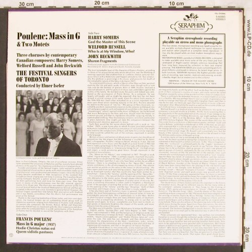 Poulenc,Francis: Mass in G (1937), Seraphim(S-60085), US,  - LP - L7612 - 6,00 Euro