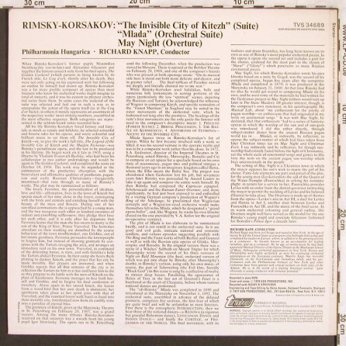 Rimsky-Korsakov,Nicolai: The Invisible City of Kitezh(Suite), Turnabout Vox(TVS 34689), UK, 1978 - LP - L7634 - 7,50 Euro