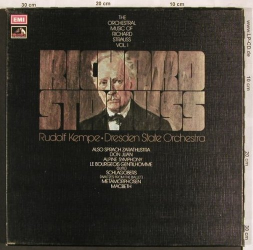 Strauss,Richard: The Orchestral Works Vol.1, Box, EMI(SLS 861), UK, 1973 - 4LP - L7637 - 15,00 Euro