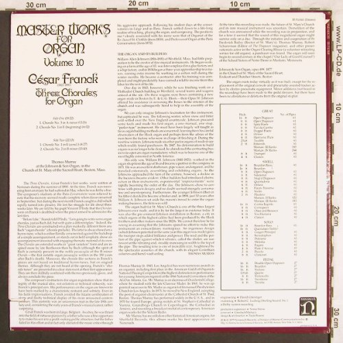 Franck,Cesar: Three Chorales for Organ, Nonesuch(H-71310), US, Co, 1975 - LP - L7692 - 7,50 Euro