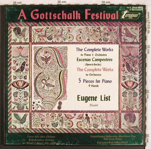 Gottschalk,Louis Moreau: The Complete Works, Box, Turnabout Vox(TV-S 34440-42), US,  - 3LP - L7701 - 20,00 Euro