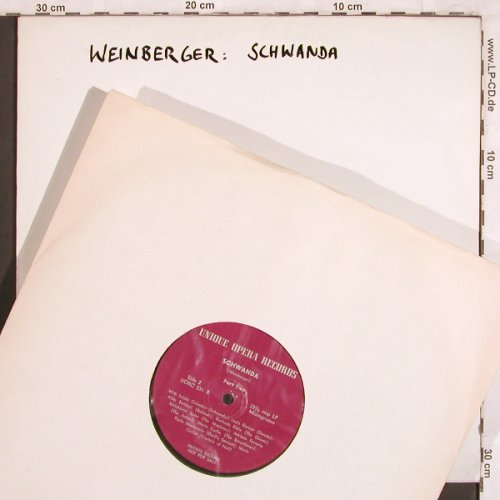 Weinberger,Jaromir: Schwanda, m-/No Cover,Privat Record, Unique Opera Recordings(UORC 231), US,  - 2LP - L7715 - 12,50 Euro