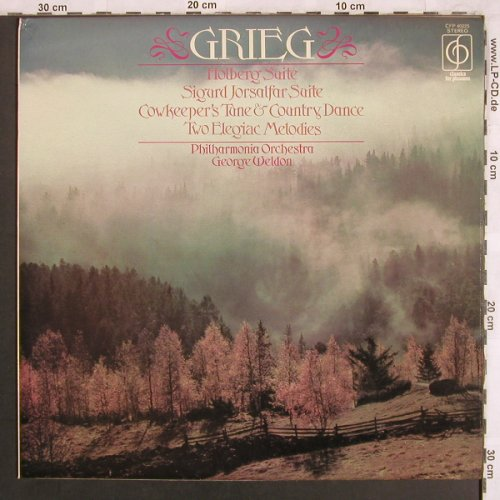 Grieg,Edvard: Holberg Suite, Sigard Jorsalfar S.., Classics for Pleasure(CFP 40225), UK, Ri, 1962 - LP - L7721 - 6,00 Euro
