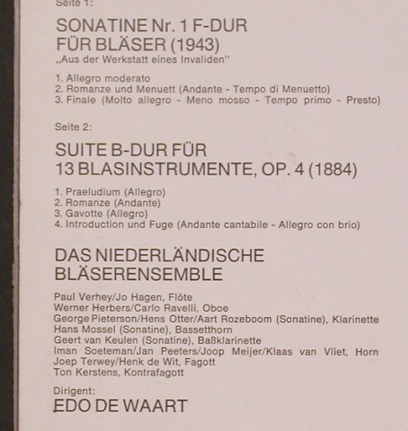 Strauss,Richard: Sonatine F-dur(1943), Philips(6500297), NL, 1972 - LP - L7755 - 9,00 Euro