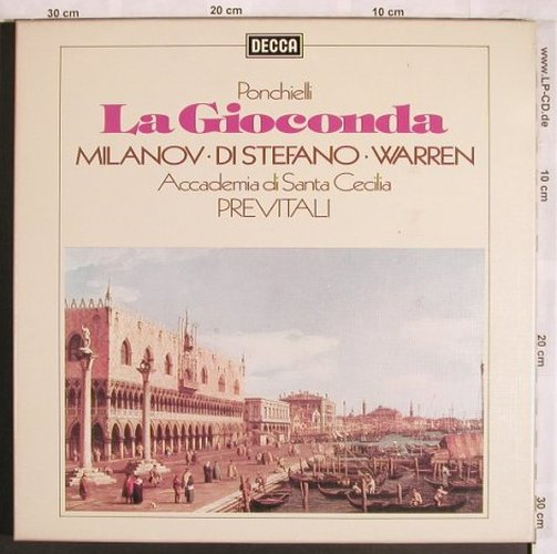 Ponchielli,Amilcare: La Gioconda, Box, <= vg+/m-, Decca(D63D 3), UK, Ri,  - 3LP - L7800 - 14,00 Euro