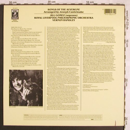 Gomez,Jill: Songs of the Auvergne, EMI Angel(AE-34471), UK, co, 1985 - LP - L7802 - 6,00 Euro
