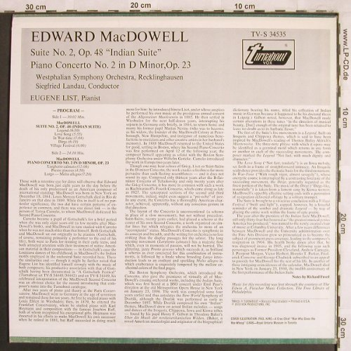 MacDowell,Edward: Indian Suite No.2,op.48, op.23, Turnabout Vox(TV-S 34535), US, 1978 - LP - L7808 - 9,00 Euro