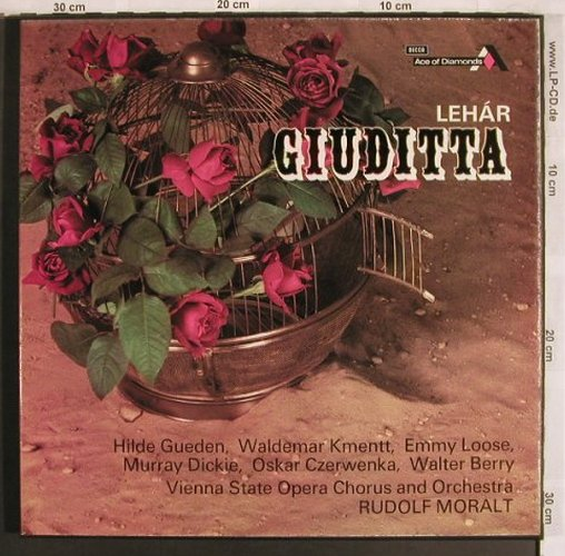 Lehar,Franz: Giuditta, Box, sung in german, Ace of Diamonds(GOS 583-4), UK,  - 2LP - L7814 - 9,00 Euro