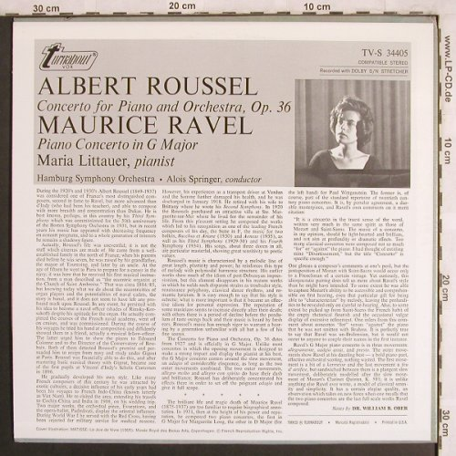 Roussel,Albert / Ravel: Piano Concerto op.36 / in G, Turnabout Vox(TV-S 34405), US,  - LP - L7876 - 7,50 Euro