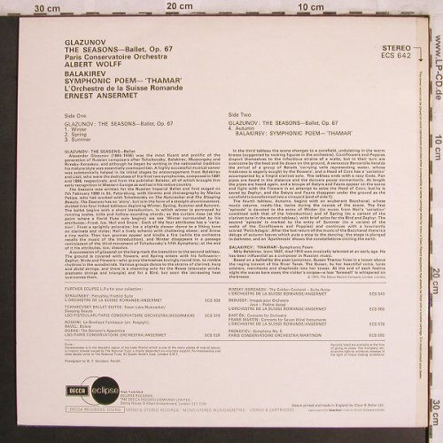Glazunov,Alexander / Balakirev: The Seasons / Symponic Poem, Decca Eclipse(ECS 642), UK, Ri,  - LP - L7959 - 7,50 Euro