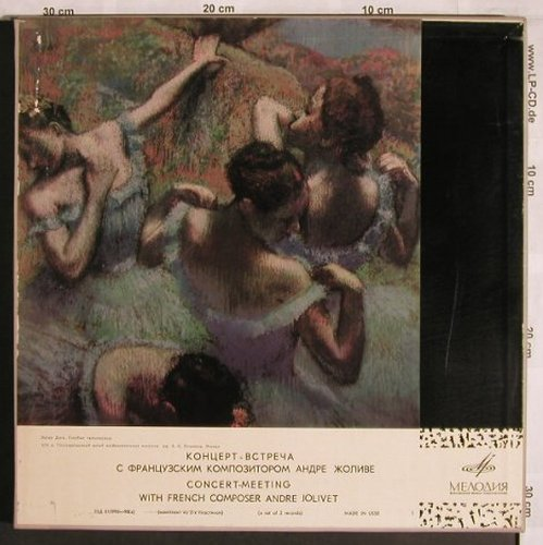 Jolivet,André: Concert of the french Composer,Box, Melodia,Ri(33C 017995-98), UDSSR, 1971 - 2LP - L7979 - 15,00 Euro