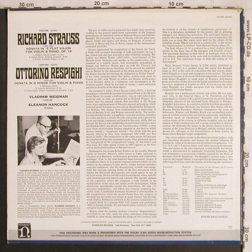 Strauss,Richard: Sonata in E-Flat Major/Sonata B Min, Nonesuch, co(H-71205), US,m-/vg+,  - LP - L8008 - 7,50 Euro