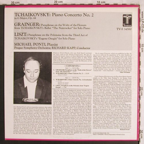 Tschaikowsky,Peter: Piano Concerto No.2,Paraph.Nutcrack, Turnabout Vox(TV-S 34 560), US, 1974 - LP - L8025 - 9,00 Euro