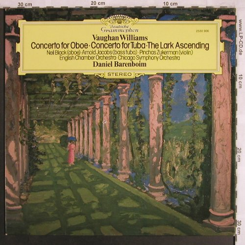 Williams,Vaughan: Concerto for Oboe/Tuba, VG+/vg+, D.Gr.(2530 906), UK, CO, 1977 - LP - L8026 - 4,00 Euro
