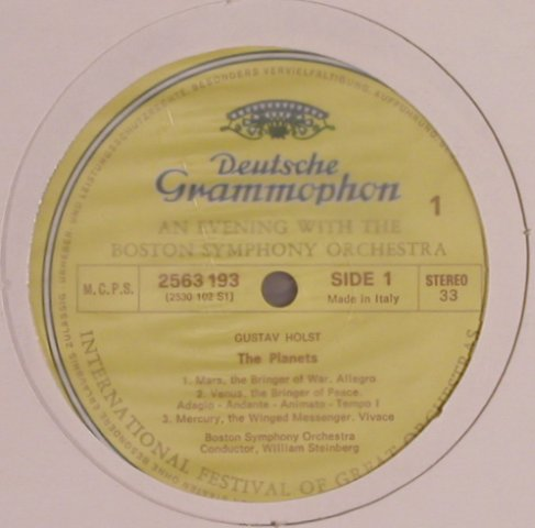 Holst,Gustav: The Planets, No Cover, D.Gr.(2563 193), I,  - LP - L8038 - 5,00 Euro