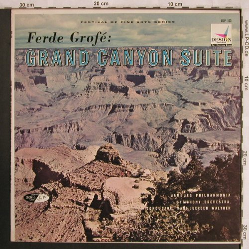 Grofé,Ferde: Grand Canyon Suite, m-/vg+, Design Records(DLP 123), US,  - LP - L8040 - 6,00 Euro